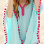 Color Block Embroidered Neck Cover Up|Disheefashion
