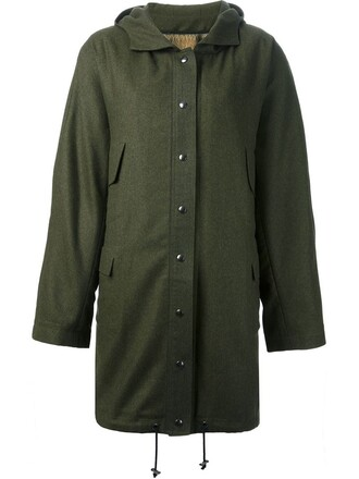 parka women green coat