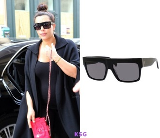 sunglasses kim kardashian black sunglasses sunnies kim kardashian style kardashians keeping up with the kardashians celebrity style celebrity accessories