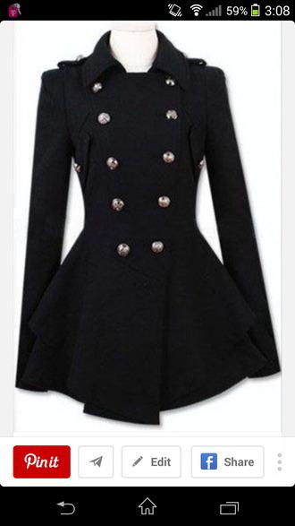 jacket black coat