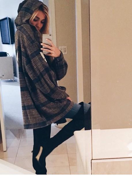 jacket shoes knee high boots sweater coat flannel shirt brown pia mia perez pia mia perez princess pia mia perez winter outfits teenagers fashion