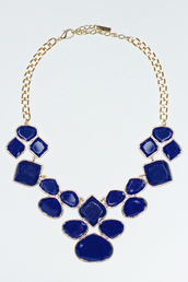 jewels,statement necklace,navy,cluster necklace,cute accessories,accessories