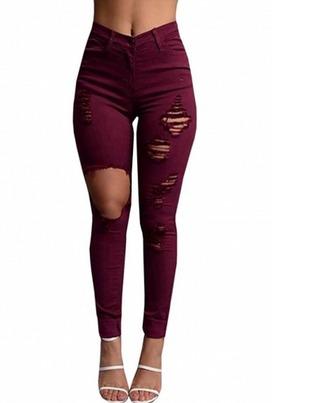 jeans girl girly girly wishlist burgundy ripped ripped jeans denim destroyed denim