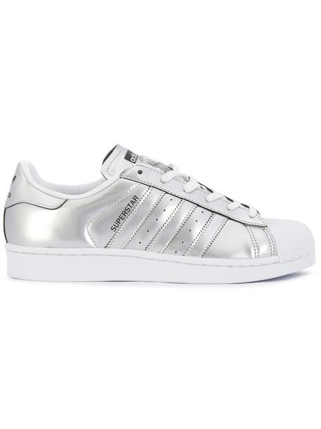 Adidas women sneakers grey metallic shoes