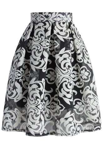 skirt all about baroque pleated skirt chicwish baroque skirt pleated skirt floral skirt summer skirt