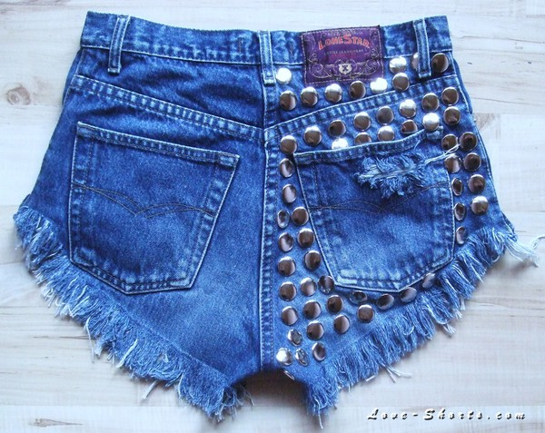 jeans studded denim t-shirt dress shorts