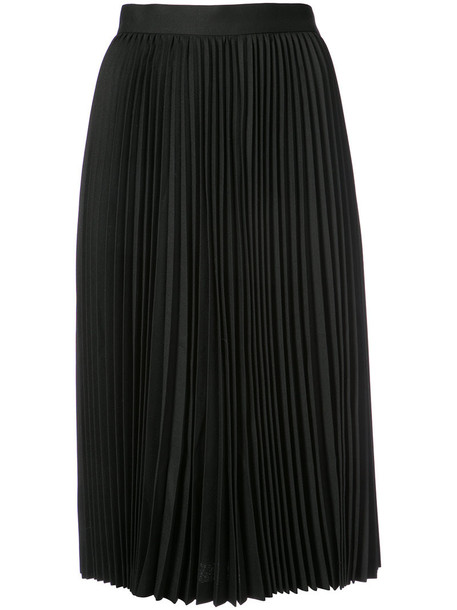 JUNYA WATANABE COMME DES GARÇONS skirt pleated women midi black wool