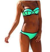 swimwear,underwear,mint,black,triangle bikini,bikini,colour block,blue swimwear,summer