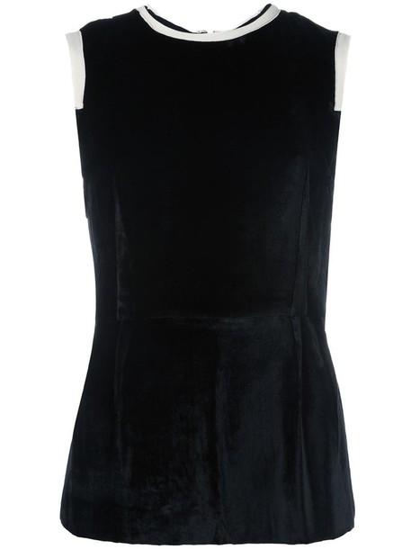 Joseph women cotton black silk top