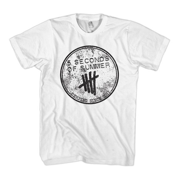 colthes fashion tshirt with text t-shirt 5 seconds of summer