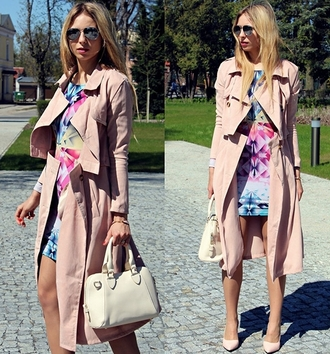 coat convertible double breasted longline trench coat fashion style nude beige spring