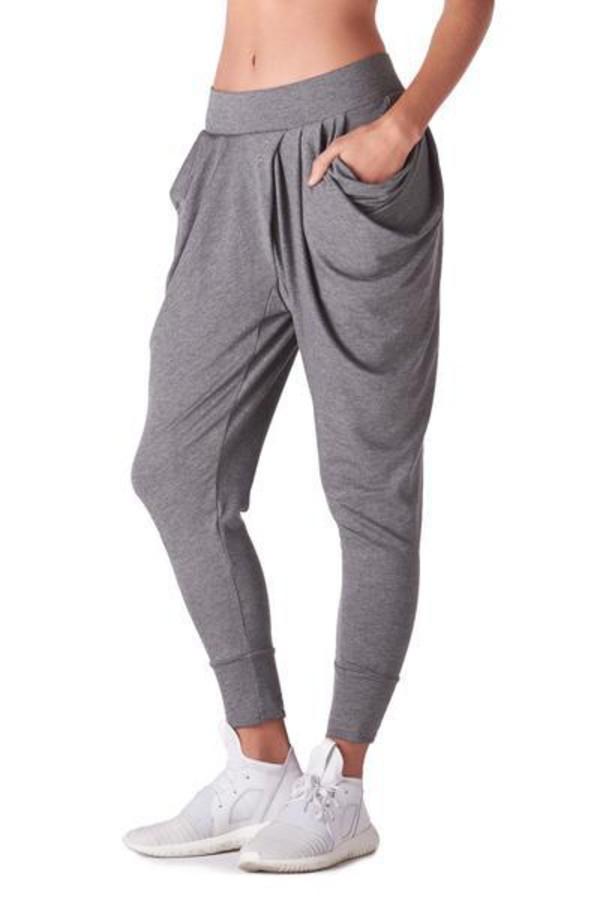 pants luxury sweatpants active bottom grey michi bikiniluxe swimwear pockets harem pants