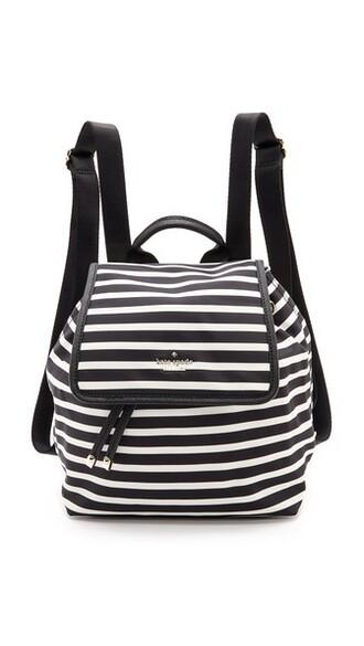 classic backpack black cream bag