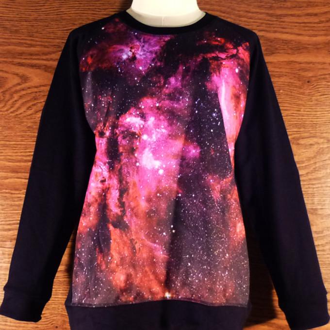 Shirt Under Red Sweater Sweater Sky Galaxy Shirt