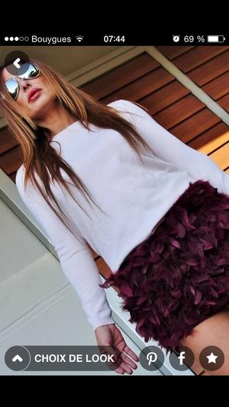 skirt skirt plum