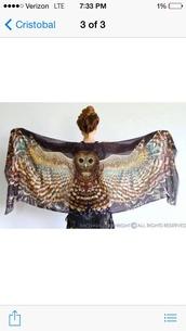 scarf,owl sarong