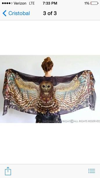 scarf owl sarong