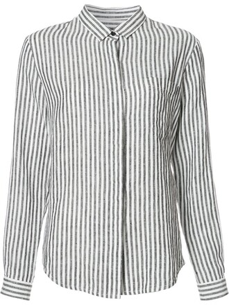 shirt striped shirt women black top