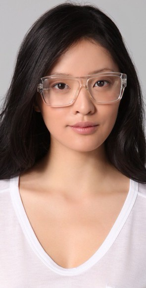 retro vintage sunglasses clear see through readers frame
