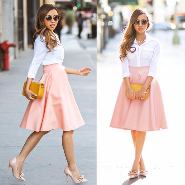 Skirt: pink, fashion, casual, black dress, boho dress, prom dress ...