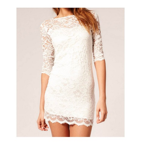 Stacy Lace Dress in white | Forever Mint | Online Store Powered by Storenvy