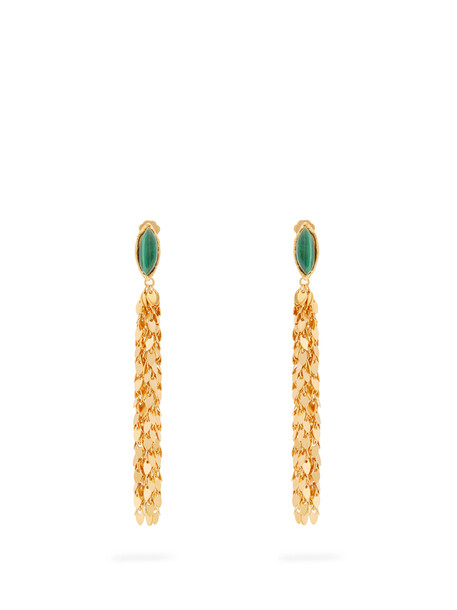 Sylvia Toledano earrings gold leaves jewels