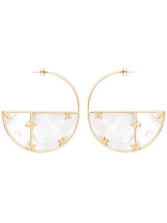 earrings hoop earrings white jewels