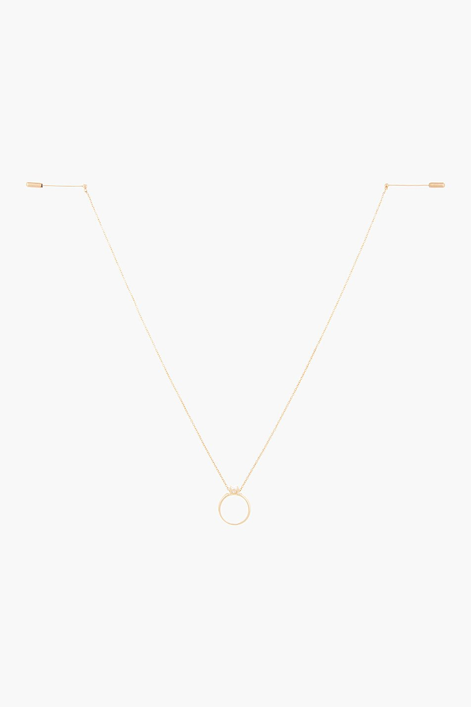 Maison martin margiela gold chain and engagement ring pin