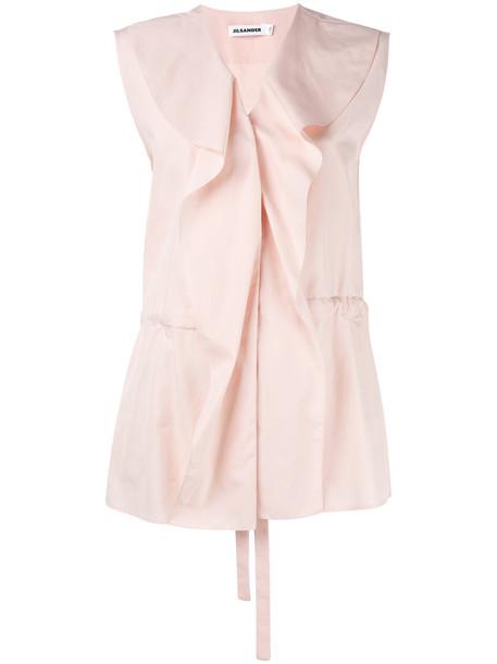 women drawstring cotton purple pink top