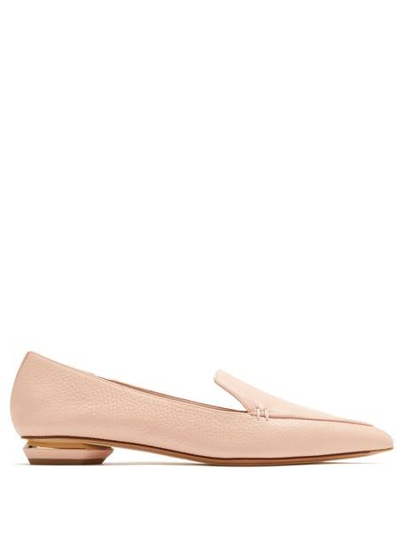 Nicholas Kirkwood loafers leather nude shoes