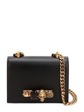 embellished,bag,shoulder bag,leather,black