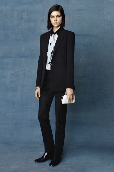 balenciaga blouse fashion lookbook jacket pants