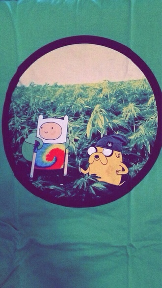 shirt adventure time weed marijuana leaves smoke