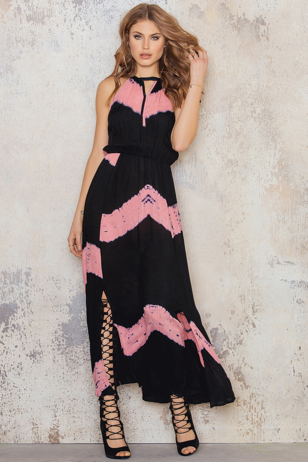 Stella Tie Dye Printed Maxi Dress