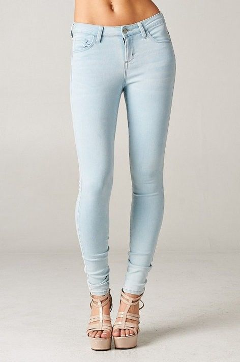 Blue Cello Skinny Jeans Light denim Distressed Stretch Slim ...