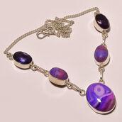 jewels,925 sliver,purple,necklace