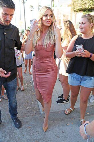 dress bodycon dress suede khloe kardashian pumps bustier dress bustier kardashians