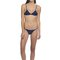 Luxury triangle bikini set - royal blue