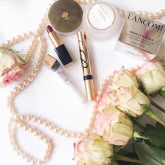 make-up tumblr mascara lipstick skin care skin cream lancome estée lauder