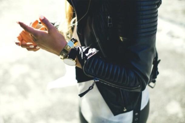 jacket biker black jacket