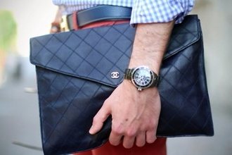 bag mens accessories chanel quilted bag mens holdall chanel bag leather bag quilted