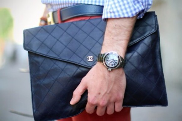bag leather bag chanel bag quilted quilted leather chanel black clutch cc quilted