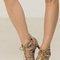 Snake print caged heels