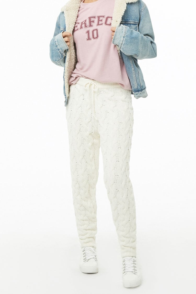 Cable Knit Ankle Pants