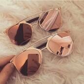 sunglasses,mirrored sunglasses,gold sunglasses,gold