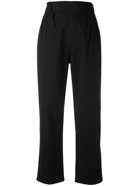Margaret Howell cropped women cotton black pants