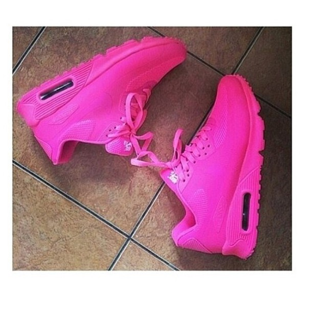 shoes bright pink nike air max 90s