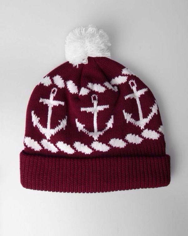 hat red anchor hat