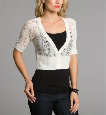 Ivory crochet cardigan