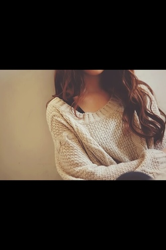 sweater weather cream winter outfits fall outfits oversize texture hairstyles brand sweater style fashion winter sweater oversized sweater oversized hair+ cotton pattern zipp white white jumper knitted jumper fall sweater big pretty